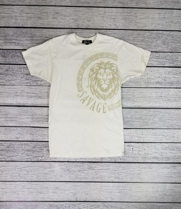 Mens cream t-shirt