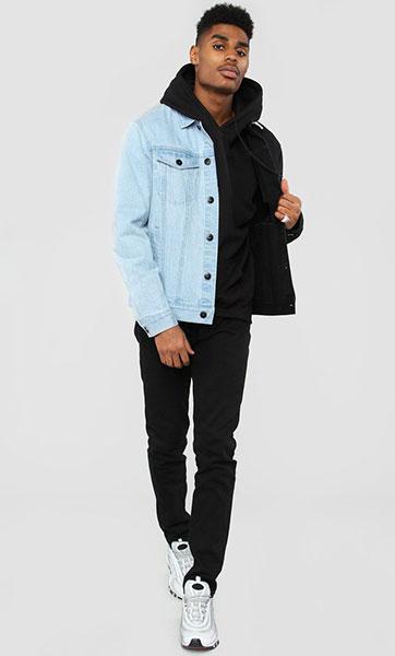 Distressed Denim, Long Denim Jacket, Denim for men and women