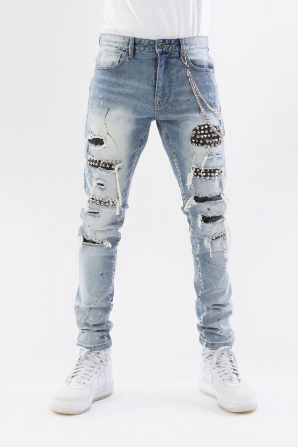 Chained Spike Jeans