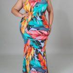 Plus Size Tropical Maxi Dress