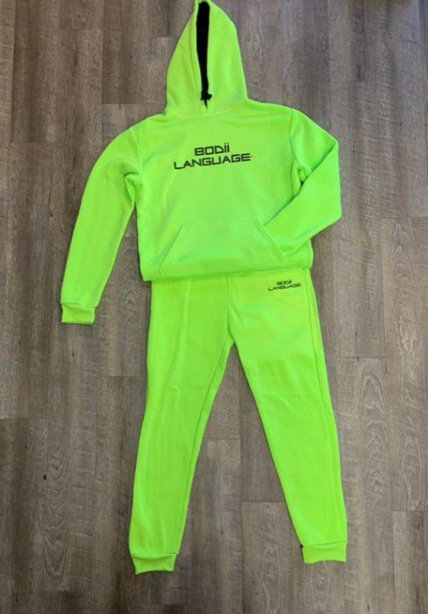 Buy Bodii Language Neon Green Sweatsuit