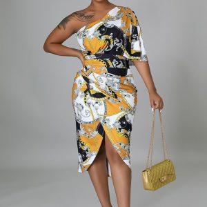 Off Shoulder Stretch Dress Ruched Dress Black and Gold Dress