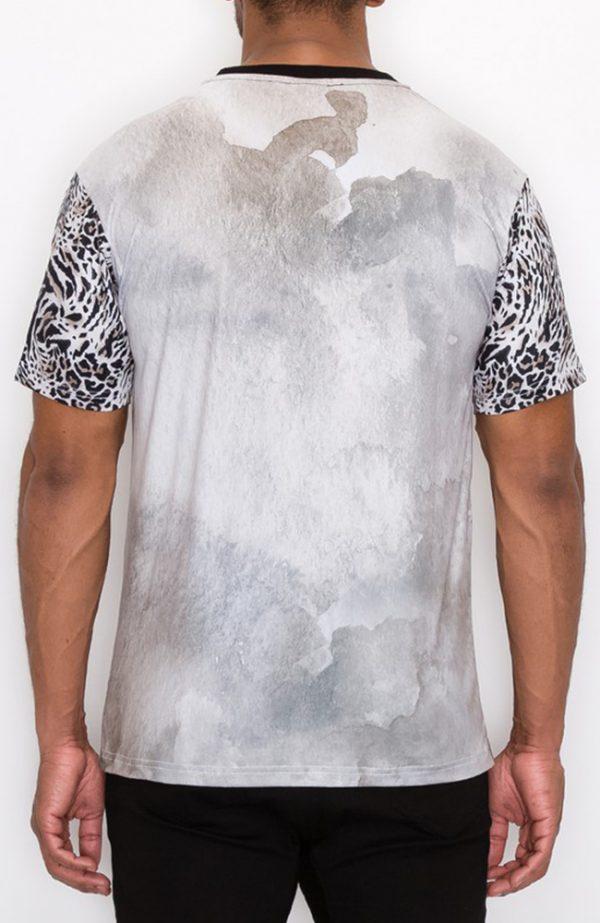 Mens Graphic Teeshirt Mens Gray Teeshirt Mens T-shirt with rhinestone detail