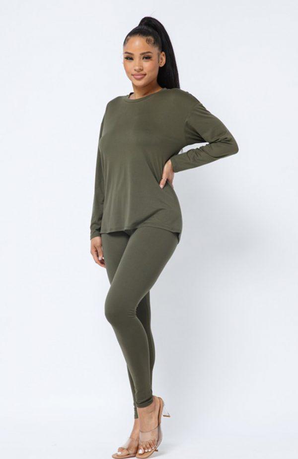 Olive Legging Set
