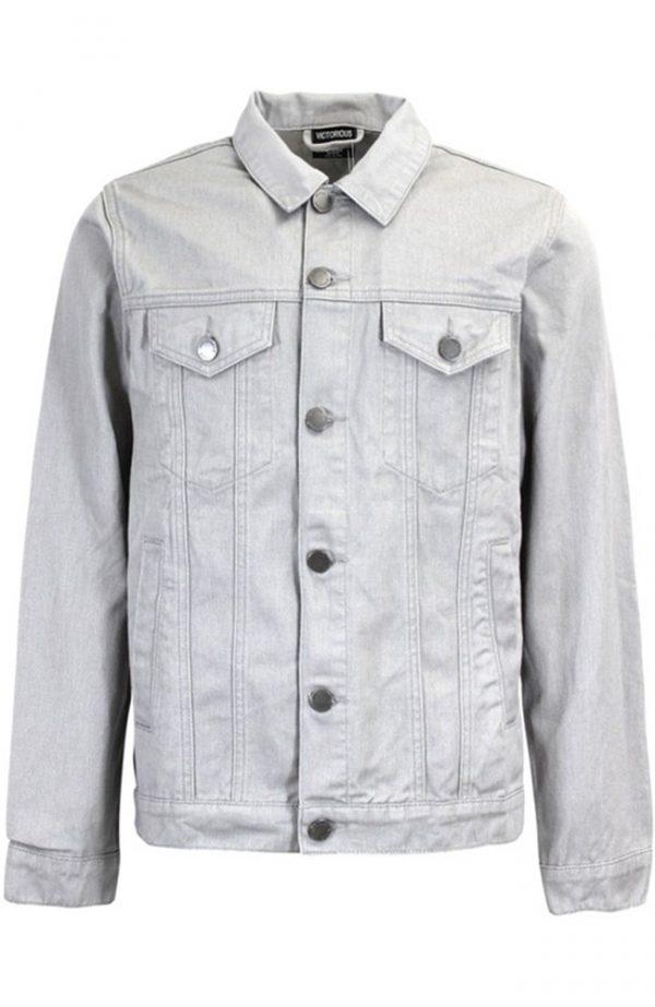 Gray Jean Jacket