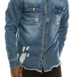 Distressed Denim Jacket Oversized Denim Shirt